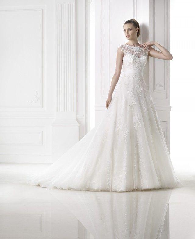 Trouwjurk Pronovias Meda Beautiful Lace Brides Bruiloft