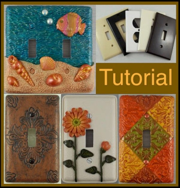 12 Adorable DIY Light Switch Plate Ideas with Tutorials