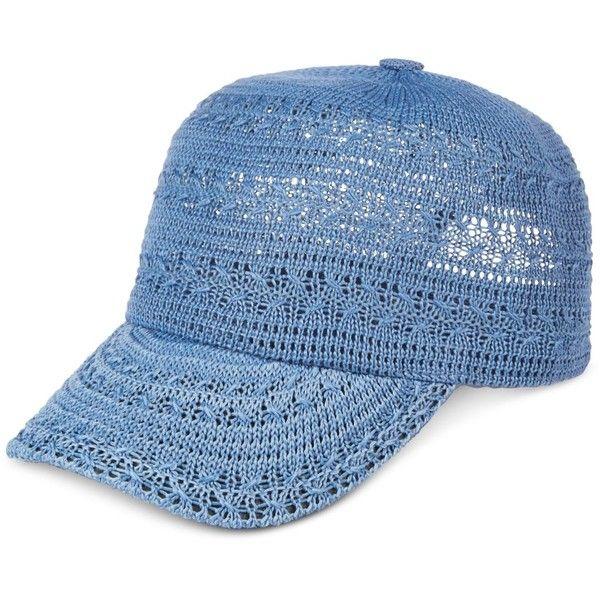 Inc International Concepts Crochet Packable Baseball Cap 14 Liked On Polyvore Featurin Crochet Baby Hat Patterns Crochet Baseball Hat Crochet Hat Pattern