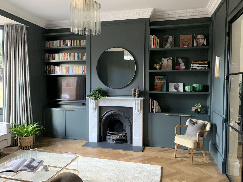 La rénovation d'une maison du 19ème siècle en couleurs contemporaines | Maison art déco, Salons ...