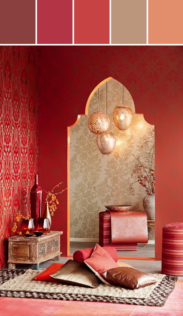 Afbeeldingsresultaat voor kleuren marokko interieur