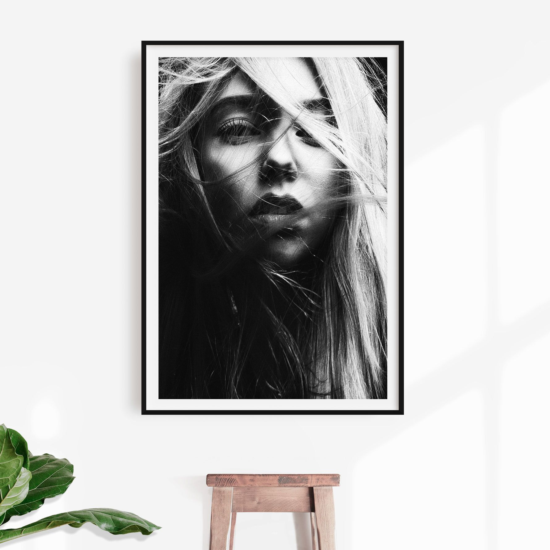 The Girl Print Modern Photography Printable Art Modern Wall Decor Minimal Design Scandinavian Poster Monochrome Digital Download Modern Photography Printable Art Modern Wall Decor