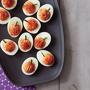 Roasted Red Pepper Deviled Eggs