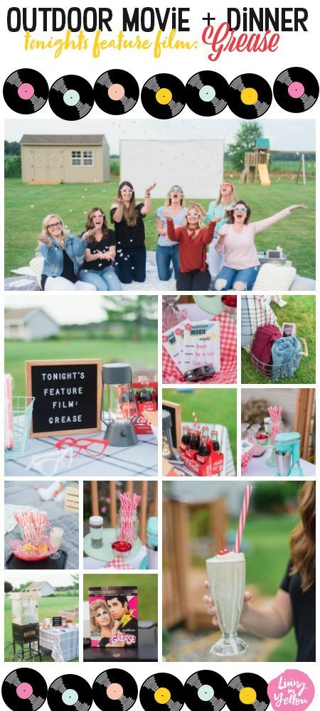 Photo of Outdoor Movie Night : Grease Themed Party – Living in Yellow