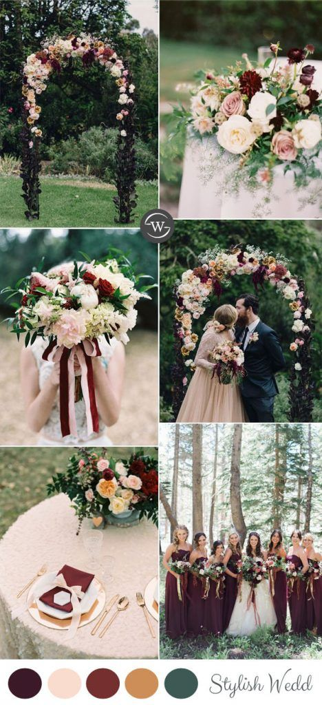 Wedding Trends 10 Fantastic Burgundy Color Combos For 2017 Gray