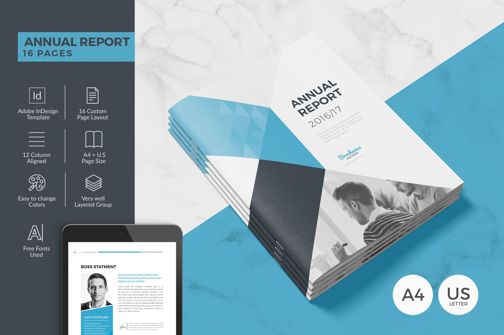 Check Out My Behance Project Annual Report Template Https