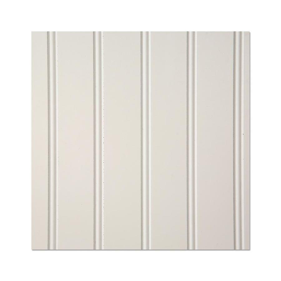 Eucatex 48 In X 8 Ft Beaded White Hardboard Wainscot Wall Panel