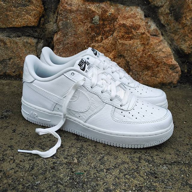 Reduced 99836 Nike 04b8d Air Force 1 Crocodile Skin White 2H9WIEDY