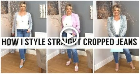 How I Style Straight Cropped Jeans | Fashion Over 40