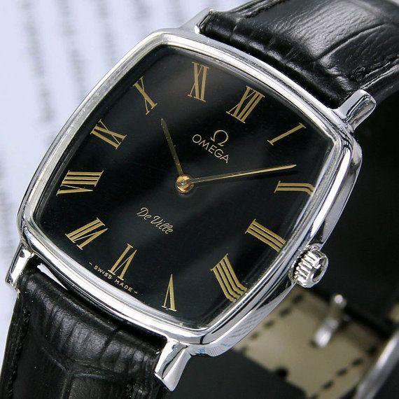1968 Vintage Omega De Ville Cal 628 Manual Winding Black Dial Men's Dress Watch