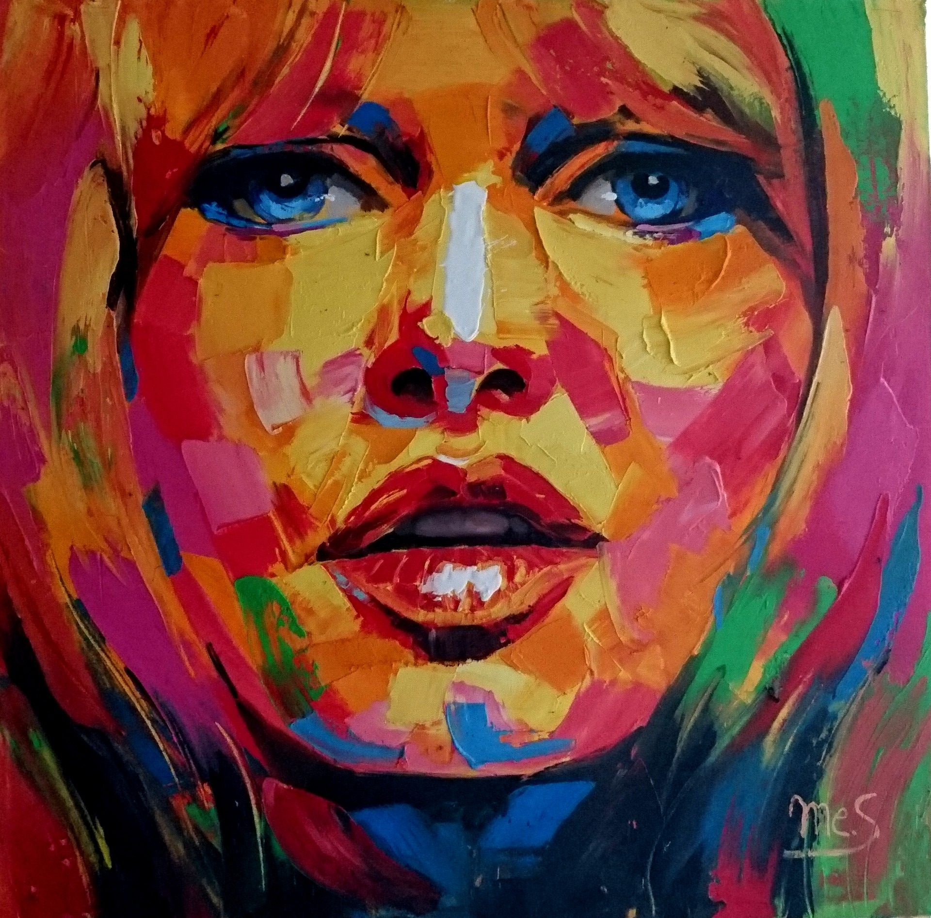 Brigitte bardot par tony messina style fauvisme 80x80 for Miroir acrylique