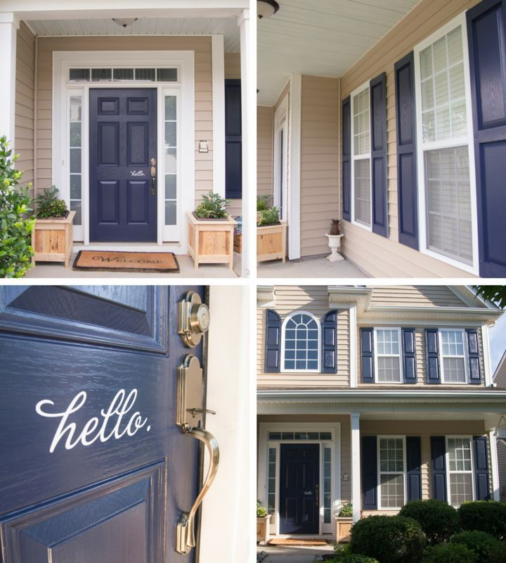 Naval Blue By Sherwin Williams 6244 Shutters And Door Makeover Whispering Whims