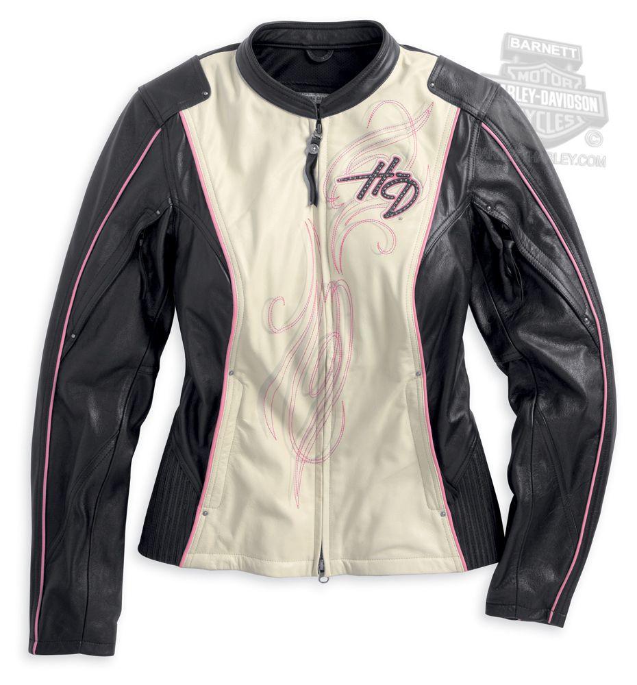 97010-14vw - harley-davidson® womens pink label mandarin collar