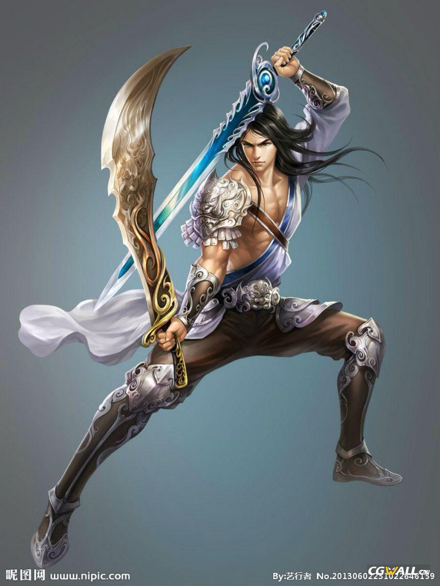Guerrero doble espada