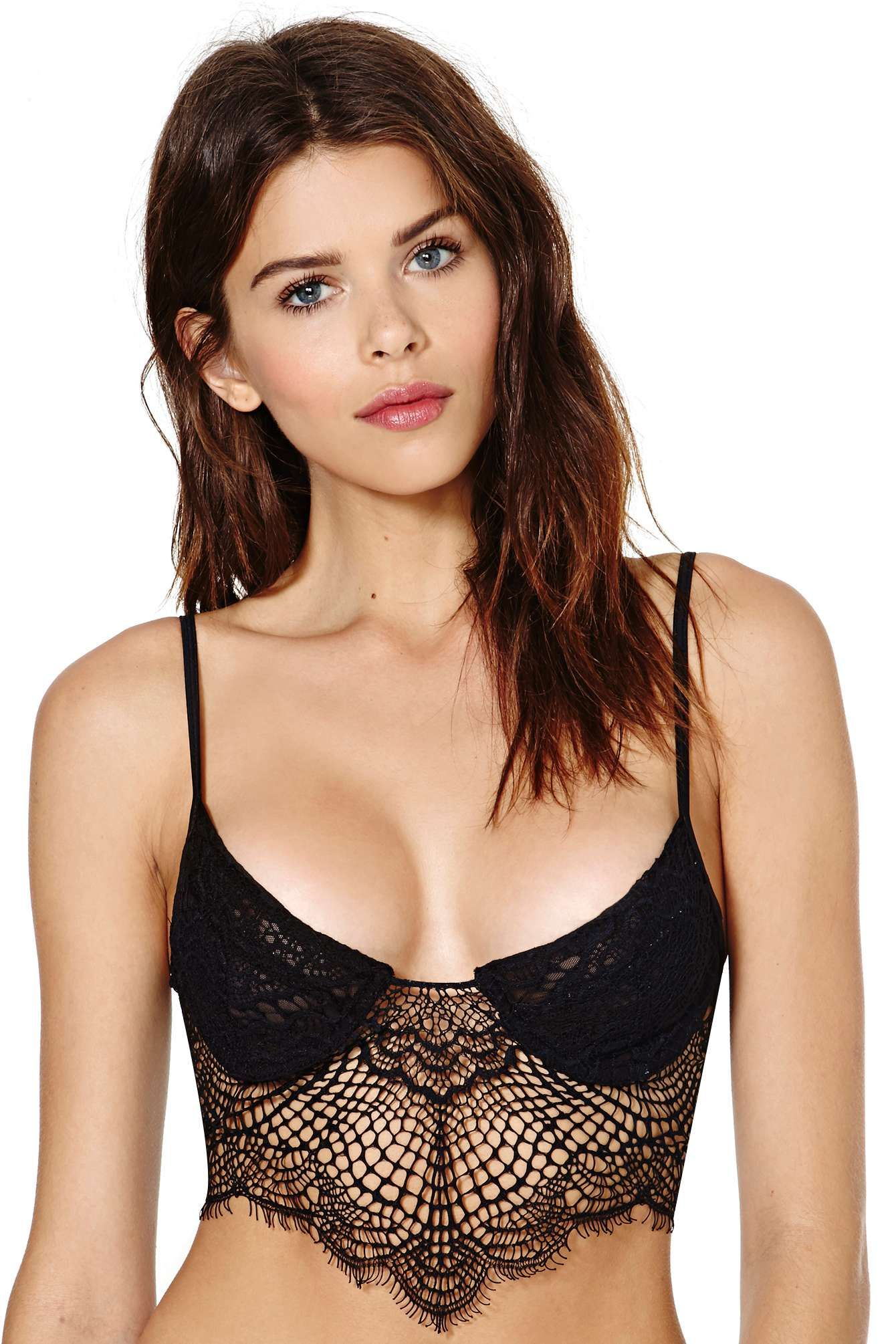 7e41df2cdc SKIVVIES Bat Your Lashes Lace Bralette