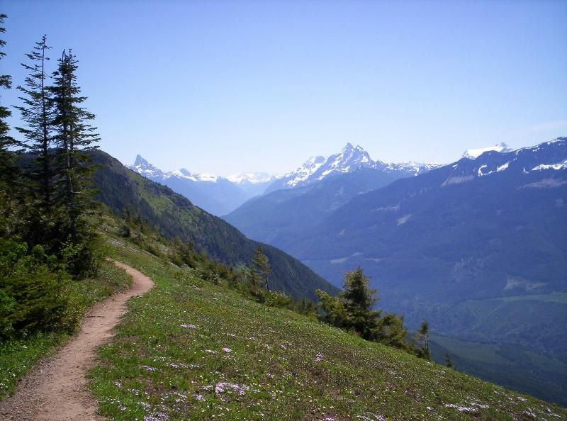 Elk Mountain Trail, looking across the Chilliwack River ...