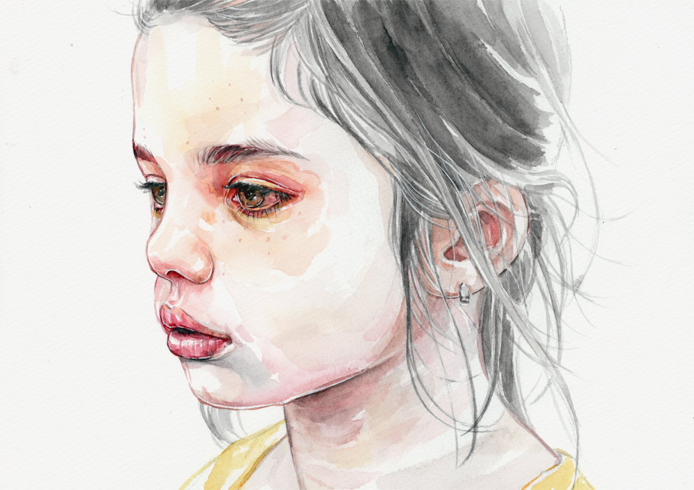 watercolor, acrylic and pen on watercolor paper (300g ...