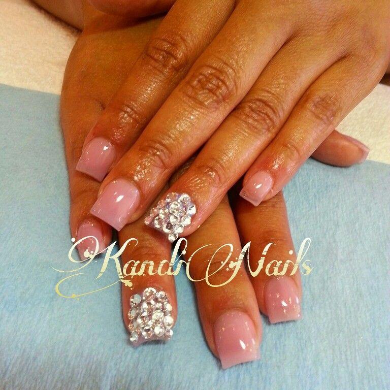 Bling short nails
