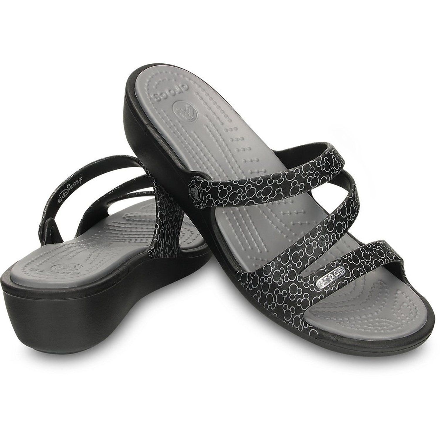 Crocs Crocs Women S Sandals Patricia Mickey Black Silver Review More Details Here Wedge Sandals Crocs Womens Sandals Sandals Womens Sandals Wedges