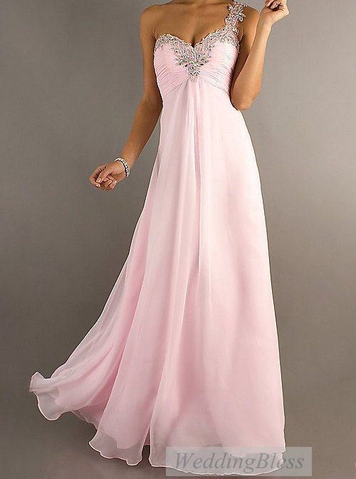 af55fc45fb00 Light Pink/Pale Pink Chiffon Long Prom Dress A-line Sweetheart Dresses with  Straps