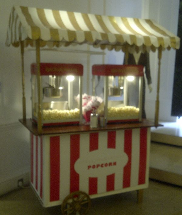 A stripy cart put together for a Stella McCartney children's store event.