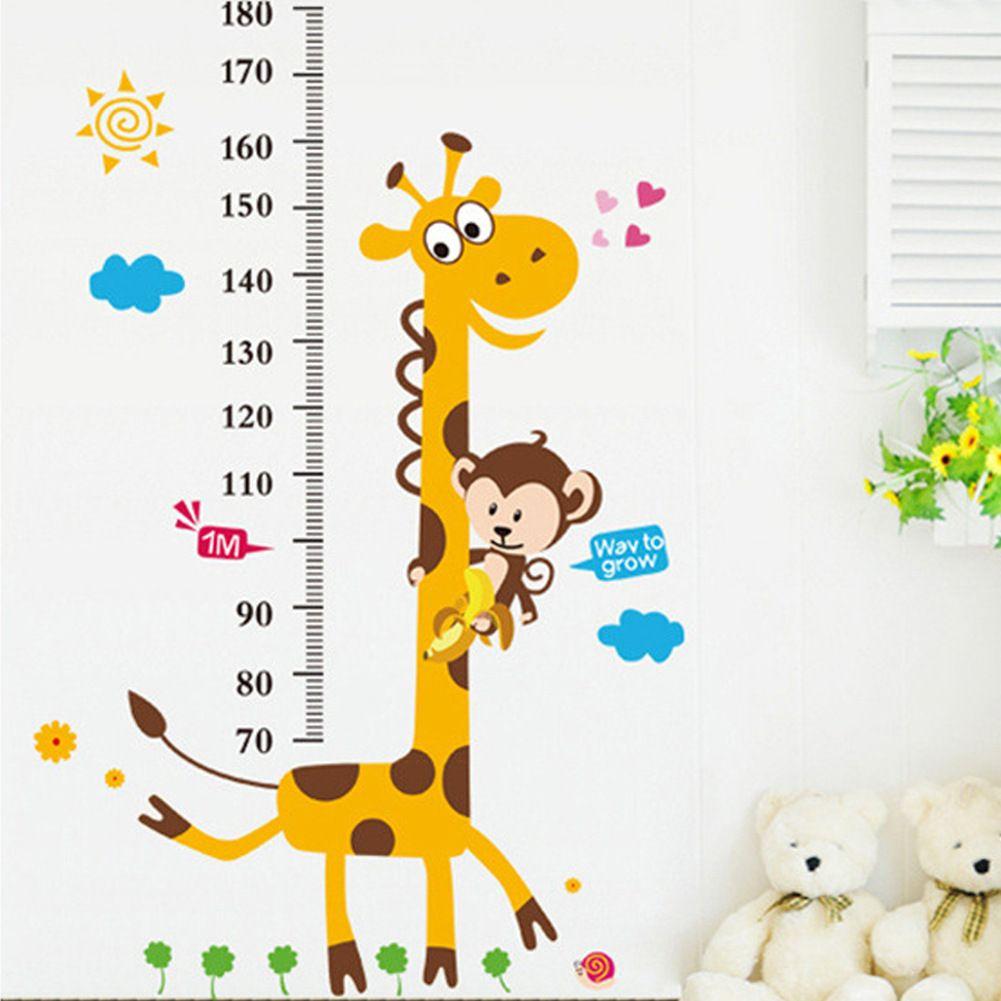 Cartoon height chart wall sticker giraffe height measure kids room giraffe monkey tree kids height measure wall stickers boy girl growth chart st in home furniture diy home decor wall decals stickers nvjuhfo Choice Image