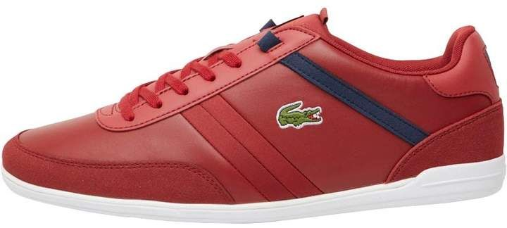 57d172eacbc90 44.99 WAS £79.99 Lacoste Mens Giron Trainers Dark Red