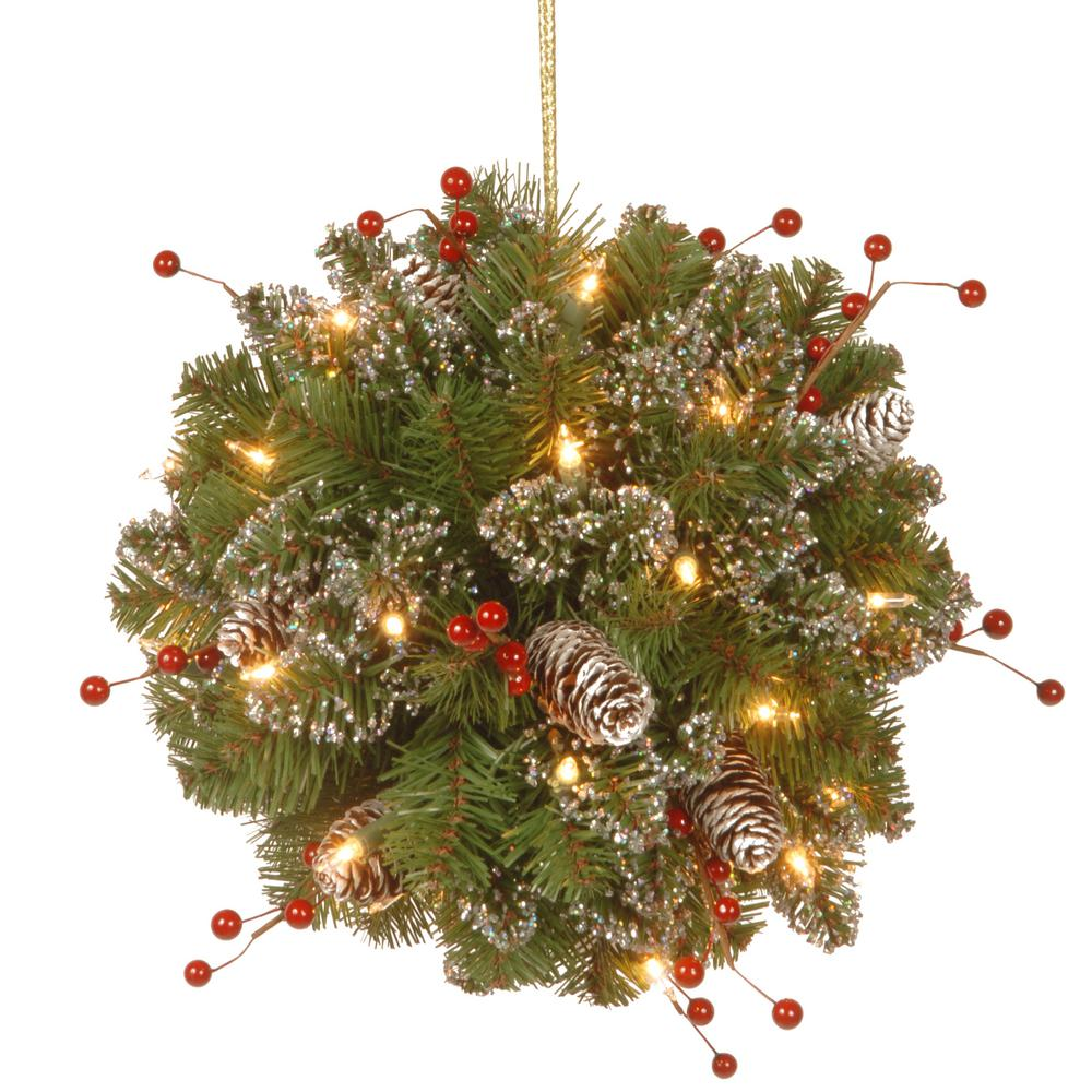 National Tree Company 12 in. Glittery Mountain Spruce