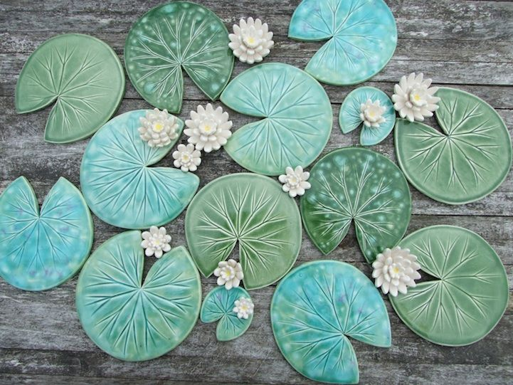 Lily Pad Coasters And Flowers Are Beautifully Handmade Product