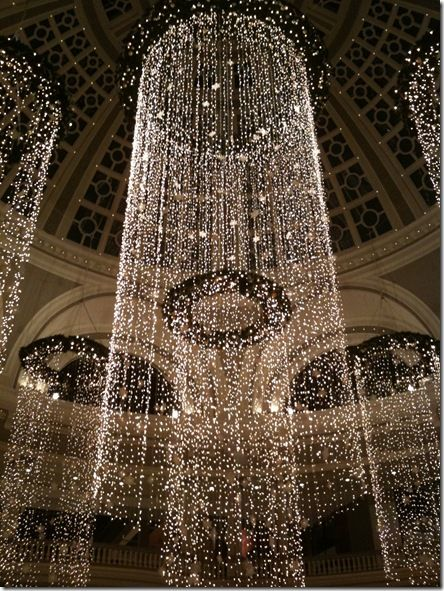 Hanging Strands Of Crystals From The Ceiling In S Circle