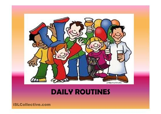 Daily routines (41 slides) extra activities included worksheet - Free ESL printable worksheets made by teachers