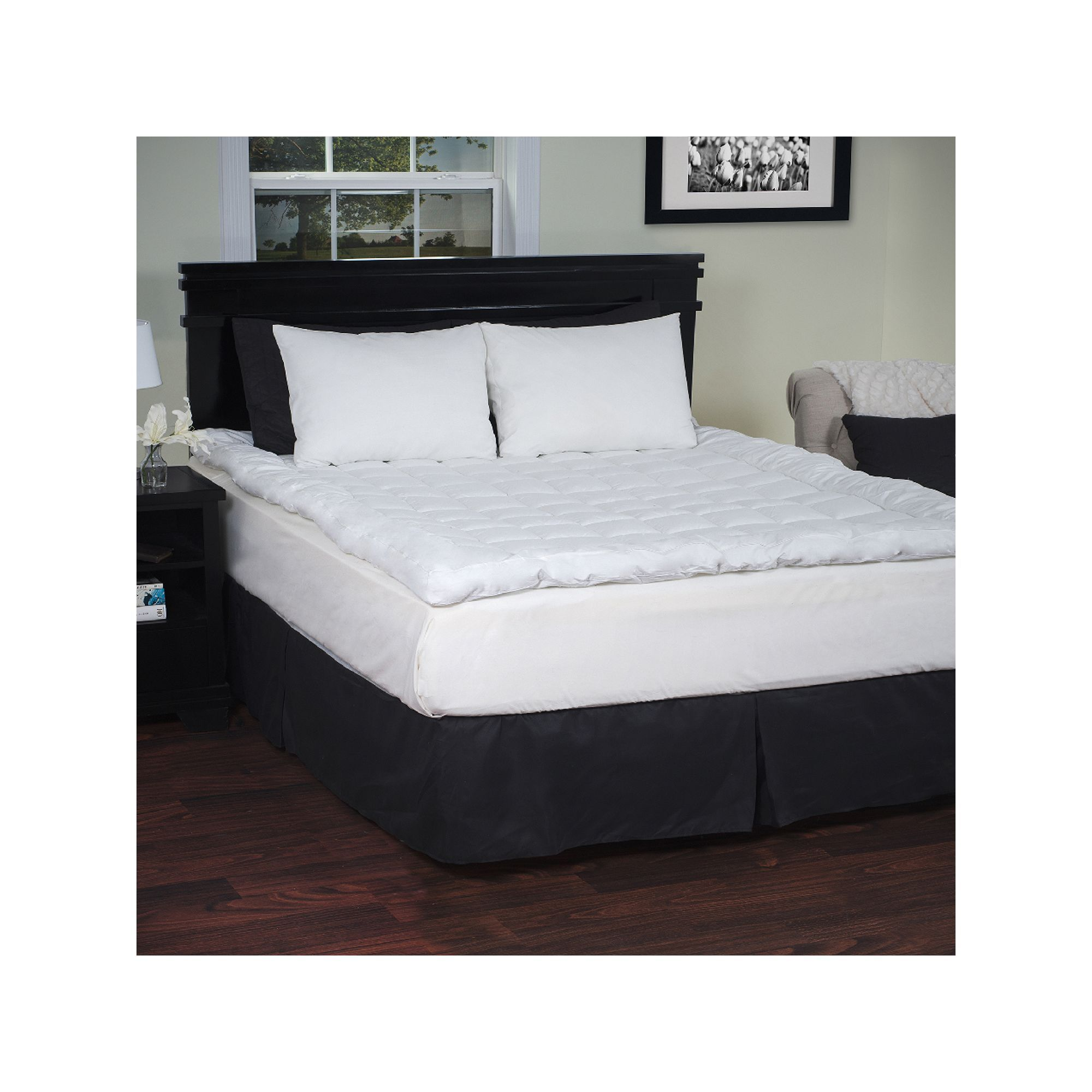 2inch DownAlternative Mattress Topper Mattress, Bed