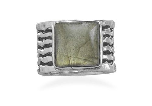 Square Labradorite Ring