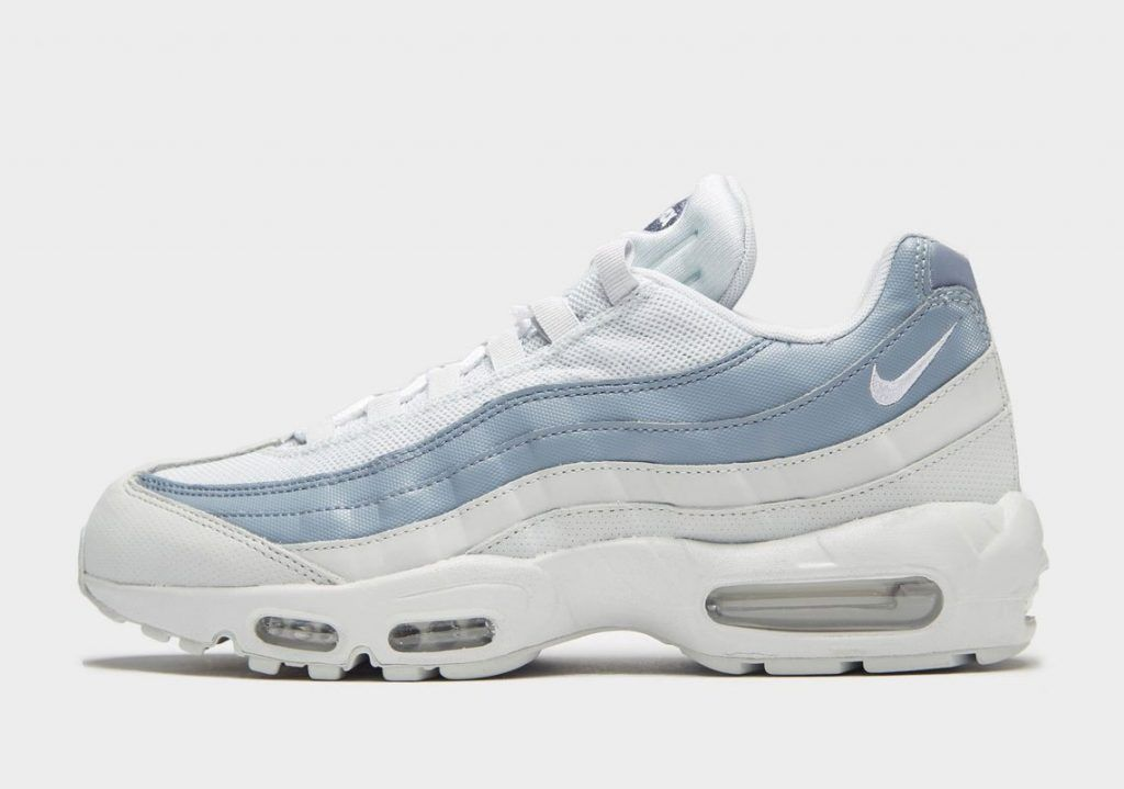 sneakers for cheap ef850 d8460 Nike Air Max 95 Light Blue And White