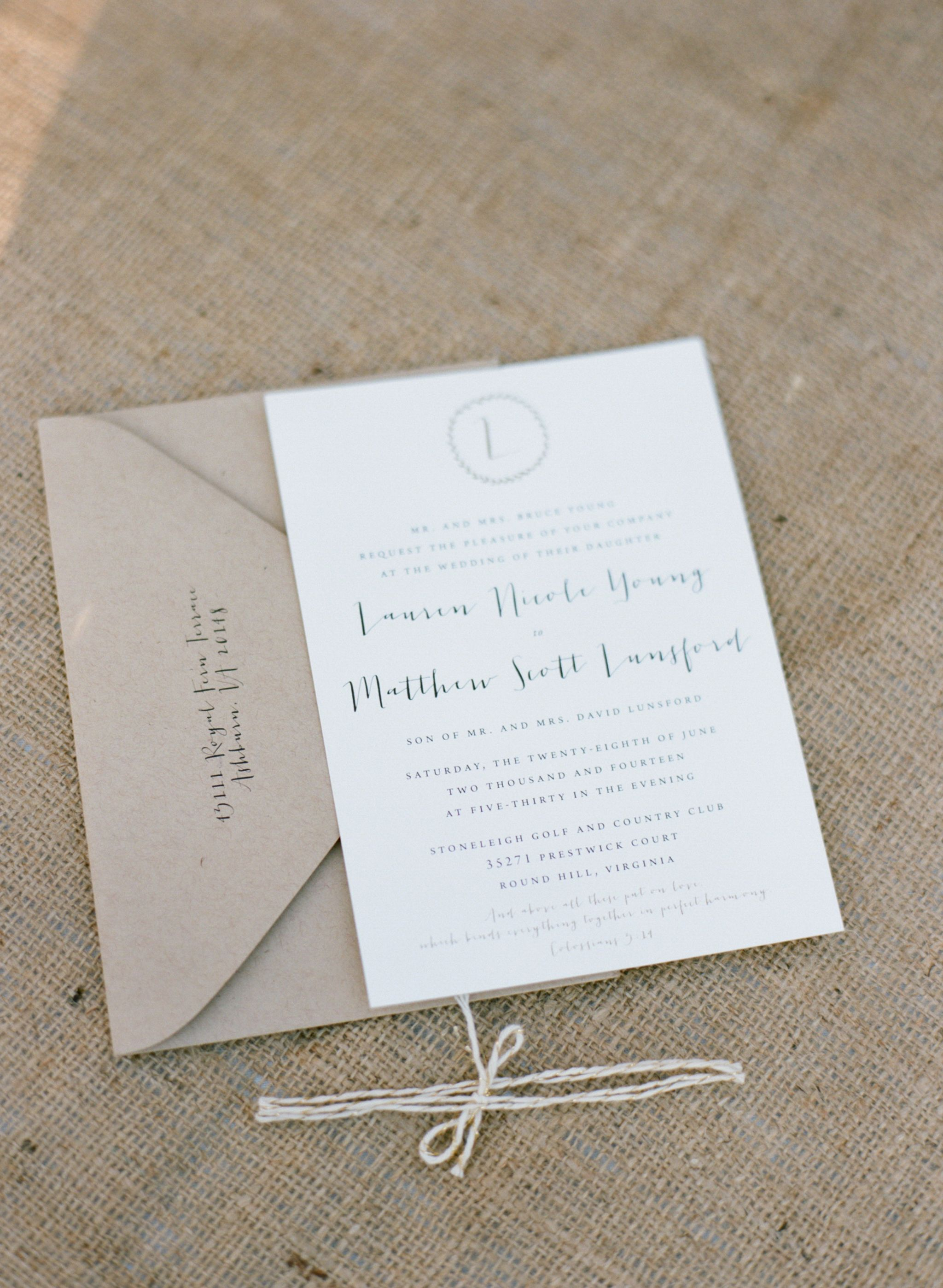 handwrite or print wedding invitation envelopes%0A Weddings    Lauren  u     Matthew on Borrowed  u     Blue  Photo Credit  Lauren Modny  Photography Invitation