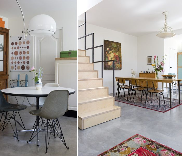 Love The Modern Space Chairs W Traditional Rug Painting