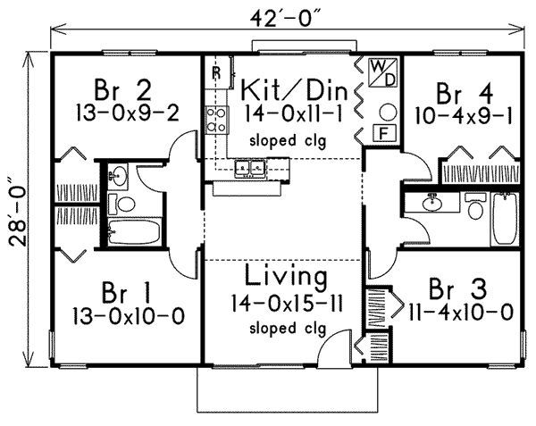Discover The Lakeland Modern Vacation Home That Has 4 Bedrooms And 2 Full  Baths From House Plans And More. See Amenities For Plan