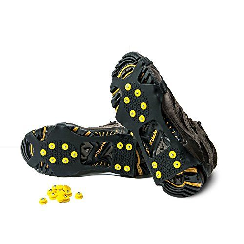 Alps Traction Cleats for Snow and Ice 10 Extra Replacement Steel Studs  Black   Learn more by visiting the image link. 9062874981c
