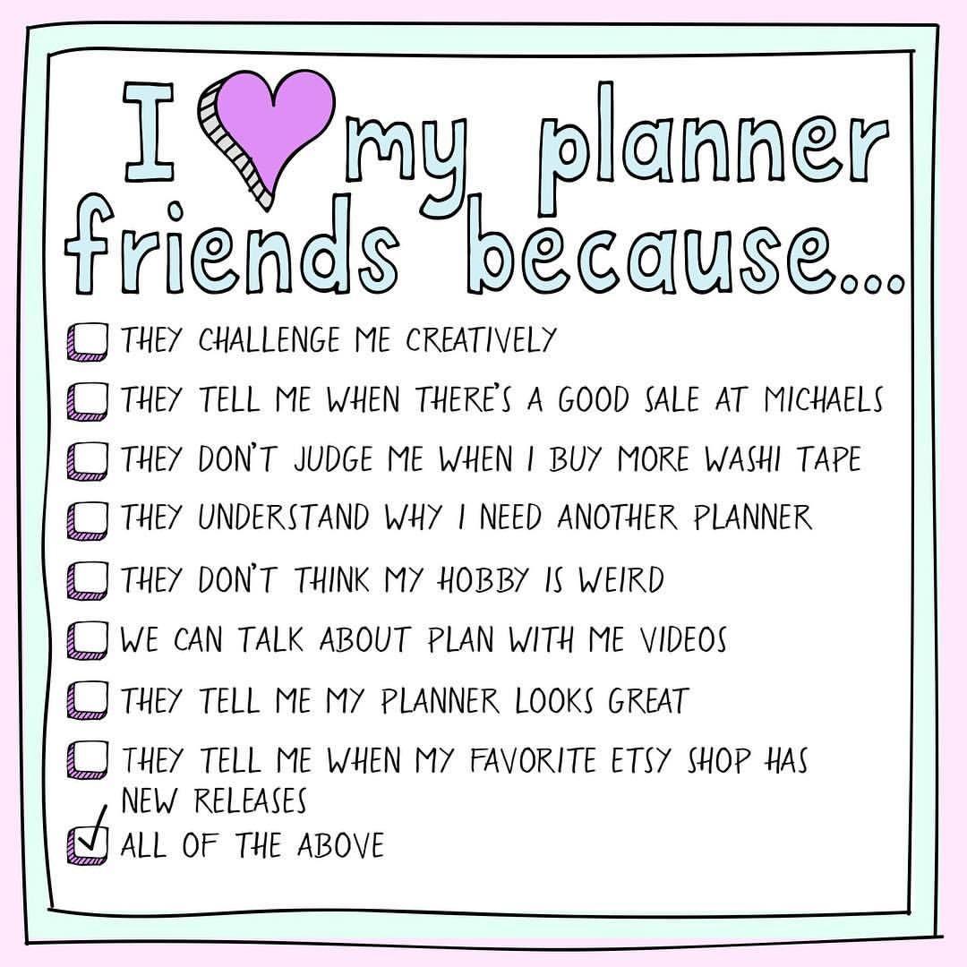Planner Friends Make The Best Friends Planner Erin Condren