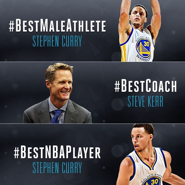 #DubNation, all your hard work paid off! The Dubs took home 3 awards at last night's 2015 #ESPYS.