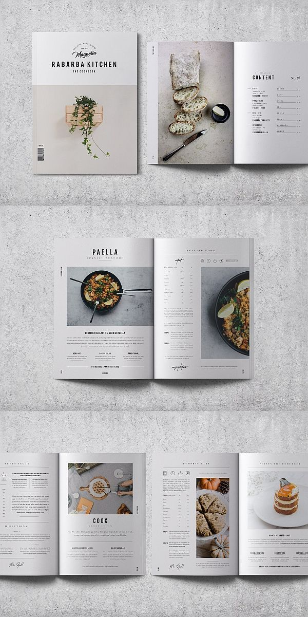 Photo of Cookbook / Recipe Book V.02 – #BOOK #Cookbook #layout #Recipe #V02