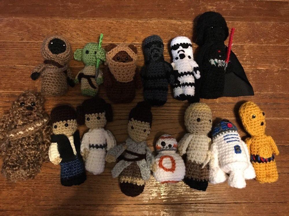 Amigurumi Star Wars : Details about star wars amigurumi lot handmade crochet doll set
