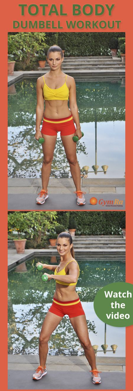 Quick, super charged total body workout with dumbbells to sculpt and slim from…