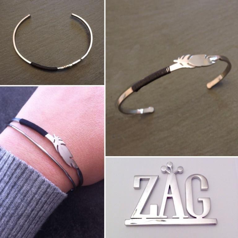 Bracelet jonc plume Zag Bijoux , 22,99\u20ac
