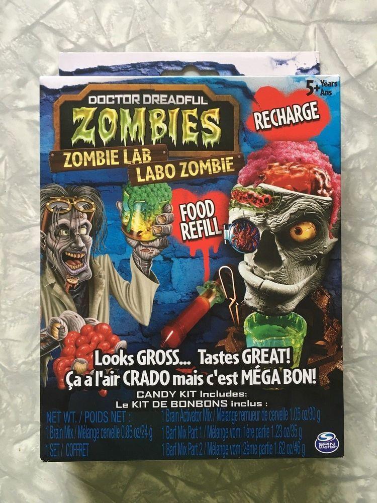 Doctor Dreadful Zombies Zombie Lab Food Refill Candy Kit Looks Gross Taste Great