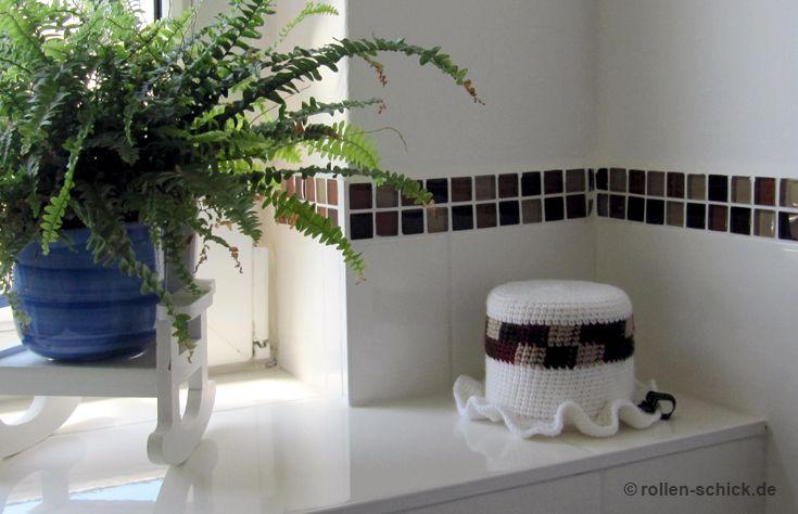 Badezimmer Deko ~ Klohut passend zu den fliesen im badezimmer. eine schöne deko