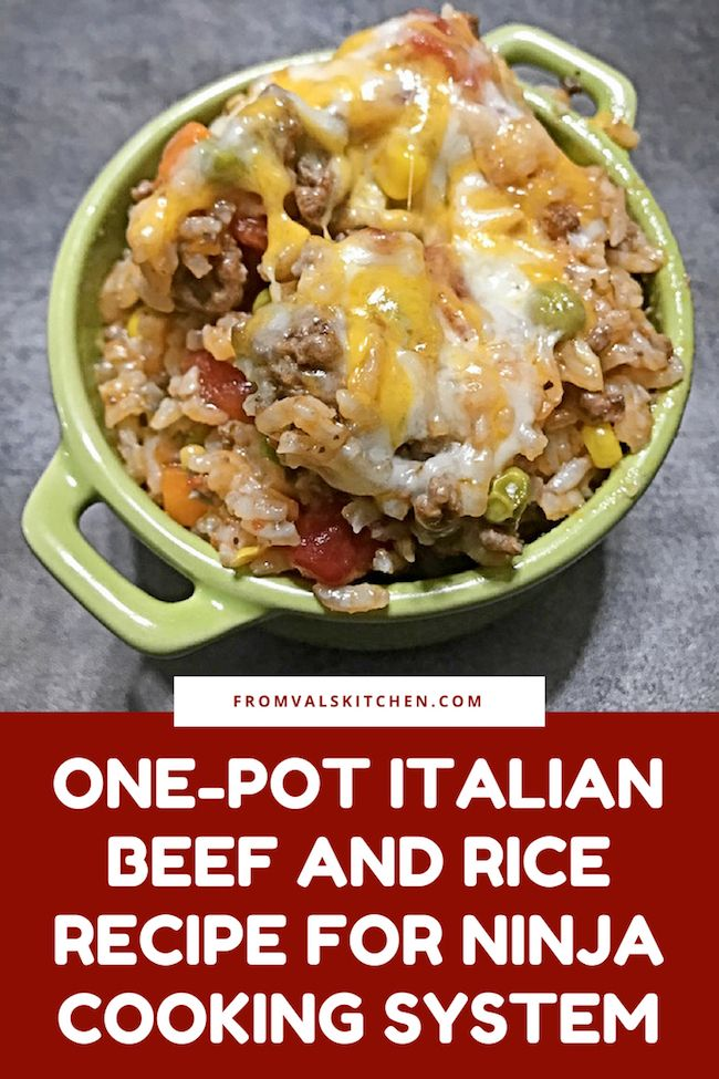One-Pot Italian Beef And Rice Ninja Cooking System Recipe #beefandrice