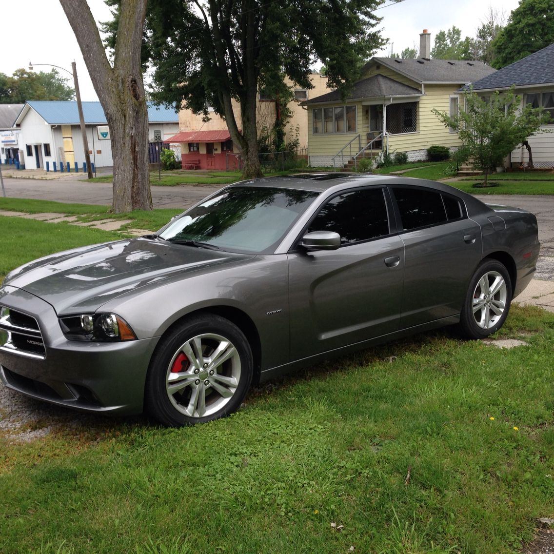 2012 Dodge Charger R/T AWD tinted windows by Dream Makers Fort Wayne, IN