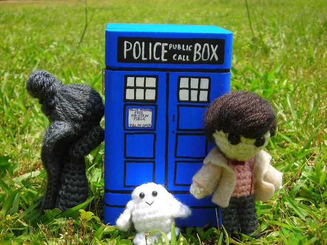 11th Doctor Weeping Angel Adipose And The Tardis Knitting