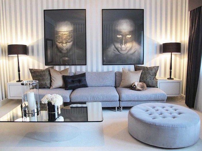 ▷ 1001 + Ideen zum Thema Welche Farbe passt zu grau? Pinterest - wandgestaltung wohnzimmer braun grau